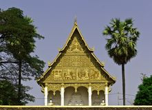Pagode dourado em Wat Pha-Que Luang em Vientian.This é buddhism Foto de Stock Royalty Free