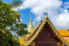 Pagode dourado, MAI de Chaing, Tailândia Imagem de Stock
