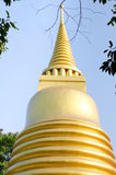 Pagode dourado no templo de Banguecoque, Tailândia Fotos de Stock Royalty Free