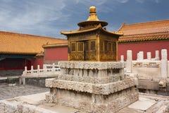 Pagode dourado pequeno, Pequim, China Imagem de Stock