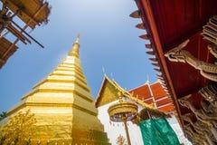 Pagode dourado, Wat Phra That Cho Hae Imagem de Stock Royalty Free