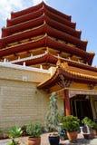 Pagode an einem buddhistischen Tempel stockfoto