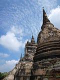 Pagode em Ayutthaya, Tailândia Fotografia de Stock