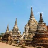 Pagode em Ayutthaya Tailândia Fotografia de Stock Royalty Free