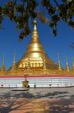 Pagode em Tachileik, Myanmar fotos de stock royalty free