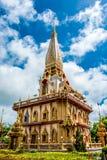 Pagode em Wat Chalong ou no templo de Chalong, Phuket Tailândia Fotografia de Stock Royalty Free