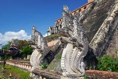 Pagode em Wat Chedi Luang em Chiang Mai Fotos de Stock