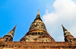Pagode em Wat Yai Chaimongkol Fotografia de Stock Royalty Free