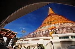 Pagode en Kerk van boeddhisme Stock Afbeeldingen