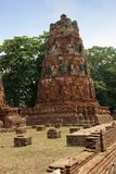 Pagode in Historisch Park, Ayutthaya Stock Afbeelding