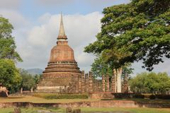 Pagode in Historisch Park, Sukhothai stock foto