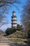 Pagode in Oranienbaum - Worlitz, Germany. Pagode im Englisch-chinesischen Garden in Oranienbaum park, Germany royalty free stock image