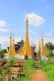 Pagode in Inle-Meer, Myanmar royalty-vrije stock foto