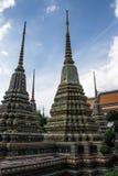 Pagode ist in Wat Pho Bangkok Thailand Lizenzfreie Stockbilder