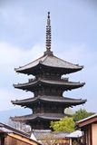 Pagode in Japan royalty-vrije stock afbeelding