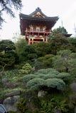 Pagode japonês do jardim de chá imagens de stock royalty free