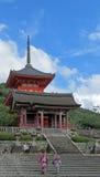 Pagode of Kiyomizudera Temple in Kyoto Stock Image