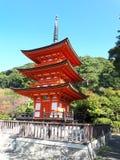 Pagode Koyasu in Kiyomizudera-Tempel stock foto