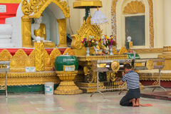 Pagode Kyaik Tan Lan The Old Moulmein Diese Pagode ist die höchste Struktur in Mawlamyine, Myanmar Stockbilder