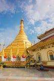 Pagode Kyaik Tan Lan The Old Moulmein Diese Pagode ist die höchste Struktur in Mawlamyine, Myanmar Lizenzfreie Stockbilder