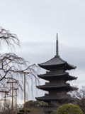 Pagode in Kyoto lizenzfreie stockfotografie