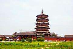 Pagode maravilhoso de Yingxian. Fotos de Stock Royalty Free