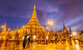 Pagode Myanmar de Shwedagon Imagem de Stock