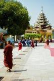 Pagode Myanmar ou Burma de Daw do papo de Shwe Foto de Stock