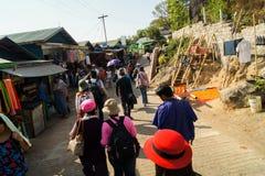 Pagode Myanmar ou Burma de Daw do papo de Shwe Imagem de Stock