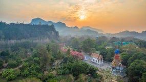 pagode su una cresta stretta e ripida Immagini Stock Libere da Diritti
