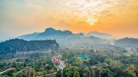 pagode su una cresta stretta e ripida Immagine Stock Libera da Diritti