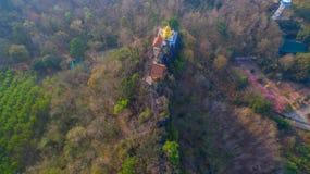 pagode su una cresta stretta e ripida Immagini Stock