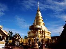 Pagode tailandês do ouro Foto de Stock