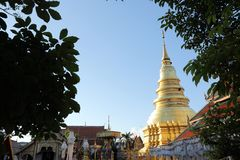 Pagode tailandês em Lamphun Tailândia imagens de stock