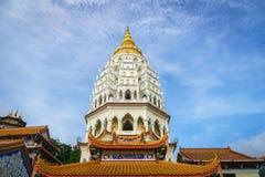 Pagode an Tempel Kek Lok Si, Penang, Malaysia Lizenzfreie Stockfotos