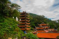 Pagode, templos Ásia vietnam Phan Thiet verão Imagem de Stock