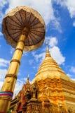 Pagode am thailändischen Tempel, wat phra dieses doi suthep Stockfotografie