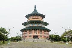 Pagode Tian Ti di Kenjeran em Surabaya, Indonésia Fotografia de Stock