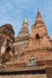 Pagode und Buddha-Statue Lizenzfreies Stockfoto