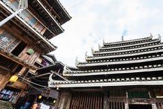 Pagode und Markt in der Mitte von Chengyang Lizenzfreie Stockfotos
