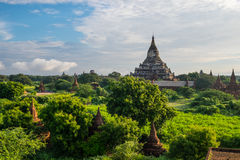 Pagode und Tempel Shwesandaw morgens, alte Stadt Bagan Stockfotos