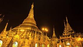 Pagode van Shwedagon van de tijdtijdspanne de Mooie Gouden van Yangon Myanmar stock footage