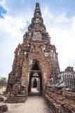 Pagode van Wat Chai Wattanaram Stock Afbeelding