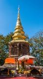 Pagode van Wat Phra That Jom Kitti Royalty-vrije Stock Foto
