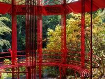 Pagode vermelho, Portmeirion Fotografia de Stock