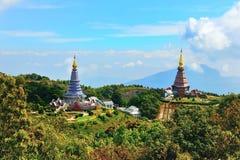 Pagode von Doi Inthanon Chiangmai Thailand stockfotos
