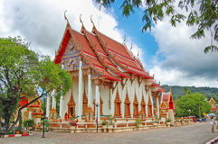 Pagode von Wat Chalong in Phuket, Thailand Lizenzfreies Stockfoto