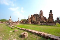 Pagode in Wat Chaiwattanaram Royalty-vrije Stock Afbeelding