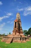 Pagode in Wat Chaiwattanaram Tem Royalty-vrije Stock Foto's