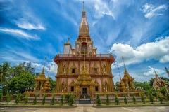 Pagode in Wat Chalong oder im Chaitharam Tempel Lizenzfreie Stockfotos